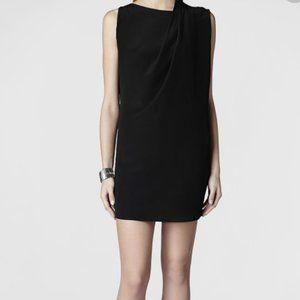 All Saints 100% Silk Black dress Sz 10